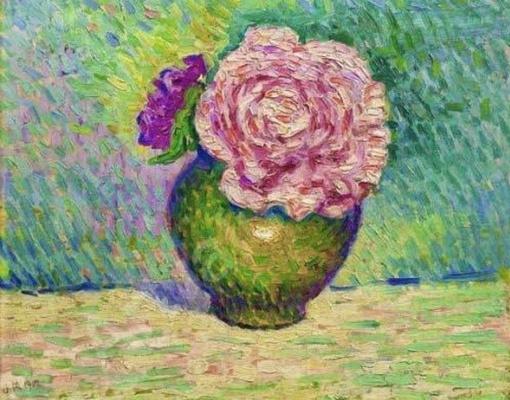 Jean Metzinger. Pink flower in vase