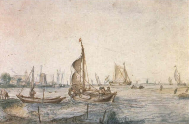 Хендрик Аверкамп. Лодки в бухте реки