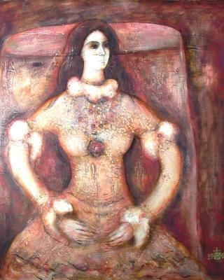 """Igor Vasilyevich Kislitsyn. """"Portrait of V. in vintage dress"""""""