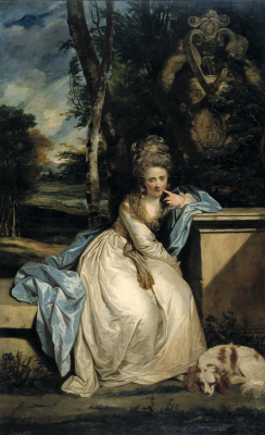 Joshua Reynolds. Portrait of Mary Monkton
