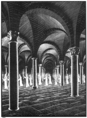 Maurits Cornelis Escher. Crypt procession
