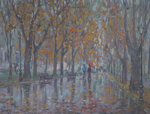 Alexander Panyukov. Autumn leaves Rain