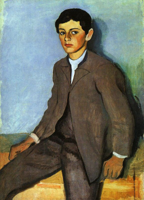 August Macke. Young man in suit