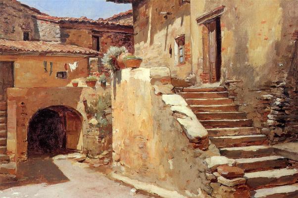 Frank Duenek. Italian courtyard