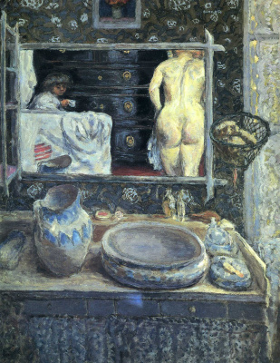 Pierre Bonnard. The Mirror above the Sink