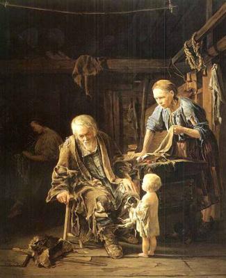 Валерий Иванович Якоби. Светлое Воскресенье нищего. 1860