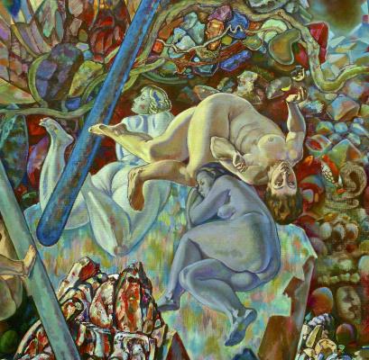 Янис Салпинкиди. Купальщицы-фрагмент