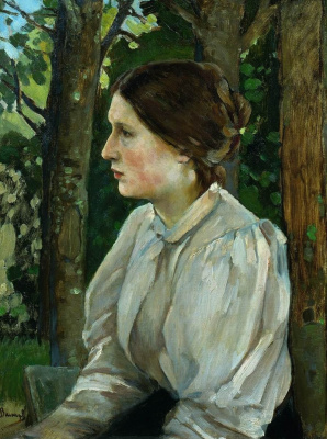Victor Mikhailovich Vasnetsov. Portrait of Tatiana Vasnetsova, daughter of the artist
