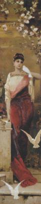 Вильгельм Александрович Котарбинский. Женщина с голубями