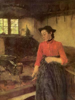 Вильгельм Мария Хубертус Лейбль. Девочка у печки