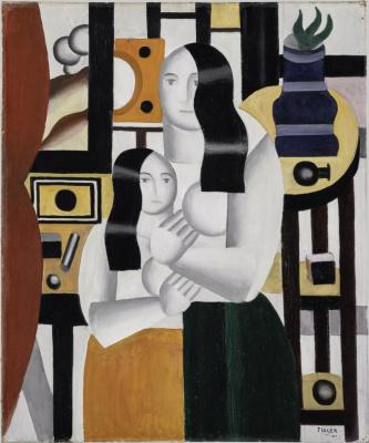 Фернан Леже. Две стоящие женщины