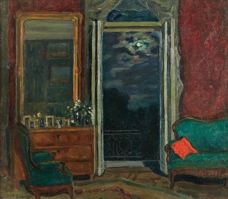 Stanislav Yulianovich Zhukovsky. Interior in the moonlight
