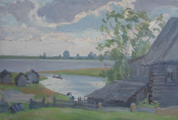 Nina Vasilievna Sedova. At a lake