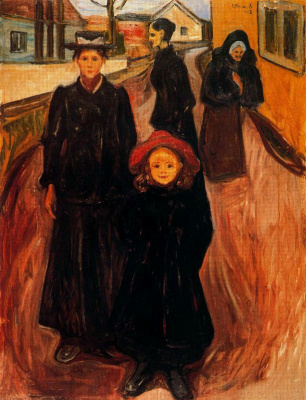 Edvard Munch. Four ages in life
