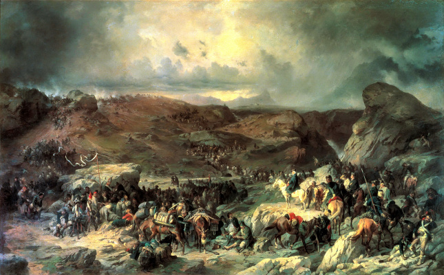 Alexander Evstafievich Kotzebue. The transition of the troops of Suvorov through the Gotthard