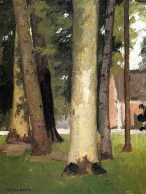 Gustave Caillebotte. Hierro. through the grove. Botanical garden