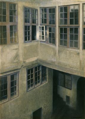 Vilhelm Hammershøi. Interior courtyard. Strandgedd 30