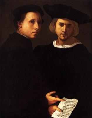 Jacopo Pontormo. Portrait of two friends