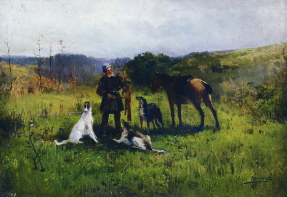 Alexey Stepanovich Stepanov (1780-1887). Hunting 1885