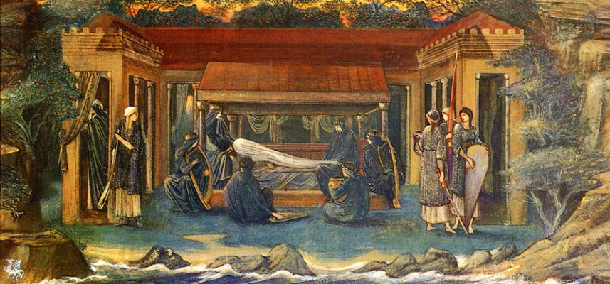 Edward Coley Burne-Jones. Arthur's last dream in Avalon (Option 1)