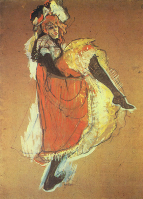 Henri de Toulouse-Lautrec. Dancer Jane Avril
