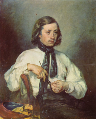 Jean-François Millet. Portrait of a man with a pipe. Arman Ono