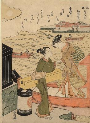 Судзуки Харунобу. Полная луна в Комагатэ