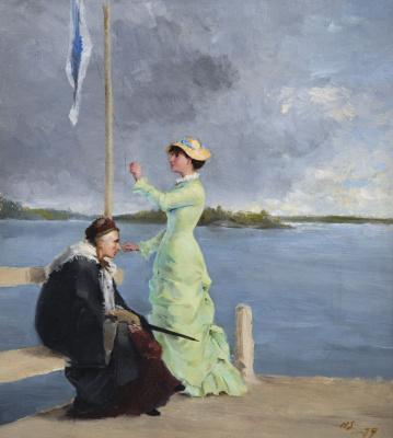 Helena Sophia Scherfbek. On the pier