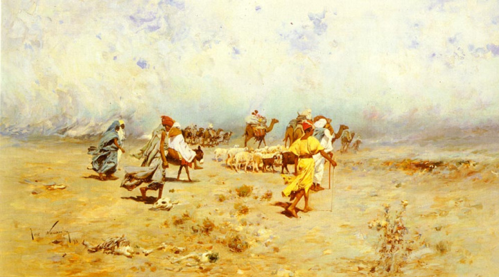 Хосе Наварро Ллоренс. Арабский караван идет
