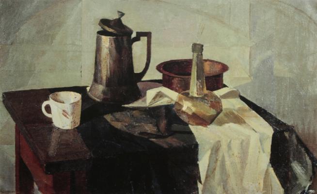 Alexander Alexandrovich Osmercin. Still life with a coffee pot. Museum New Jerusalem.