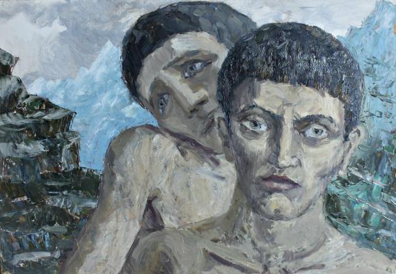 Vladimir Churkin. Young men