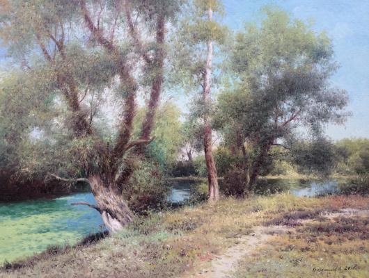 Vasily Ivanovich Gribennikov. River bank