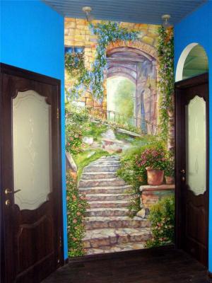 Віталій Бигич. Painted wall-a ladder.