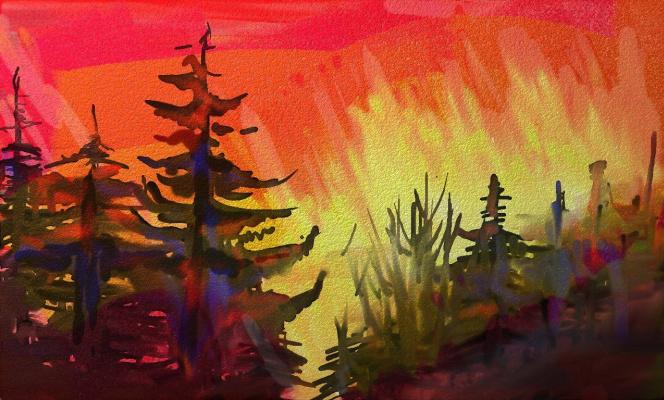 Ксения Виноградова. The sunset burns