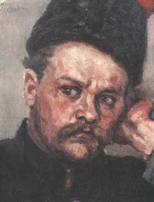"Vasily Ivanovich Surikov. Razin. A sketch for the painting ""Stepan Razin"""