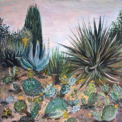 Oksana Gracheva. Cacti in the arboretum
