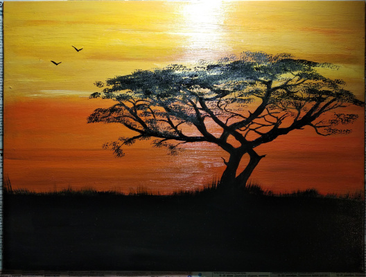 Zifa Ishbulatovna Abdullina. Savannah Africa