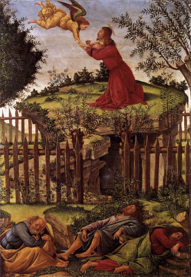Sandro Botticelli. Agony in the garden