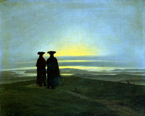 Caspar David Friedrich. Sunset