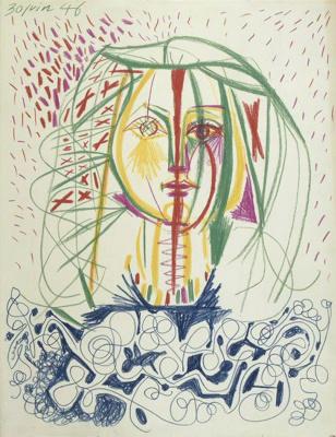 Pablo Picasso. Portrait Of Francoise