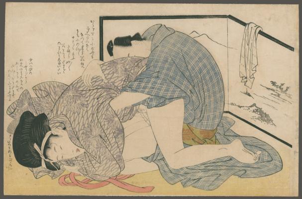 Китагава Утамаро. После ванны