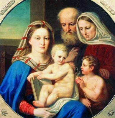 """""""The Holy family"""". 1850"""