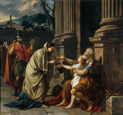 Jacques-Louis David. Belisarius begging