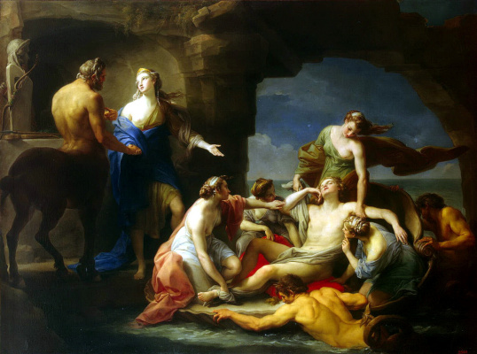 Хирон возвращает Ахилла его матери Фетиде