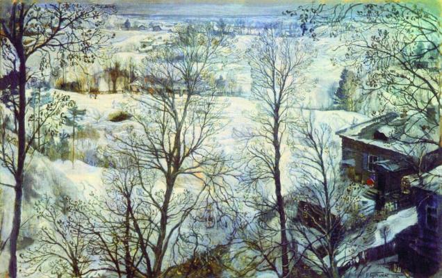 Isaac Brodsky. Winter landscape