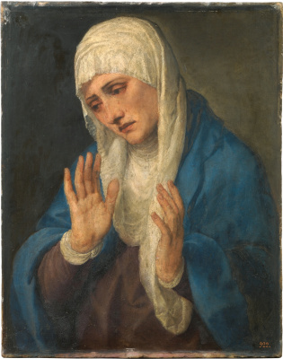 Titian Vecelli. Mater Dolorosa (Madonna Dolorosa with divorced hands)