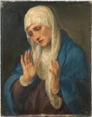 Titian Vecelli. Mater Dolorosa (Madonna Dolorosa with divorced hands)