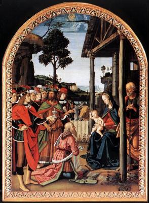 Pietro Perugino. The adoration of the Magi