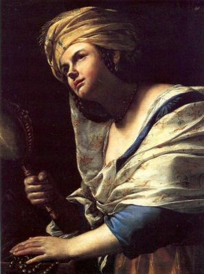 Маттиа Прети. Женщина с зеркалом