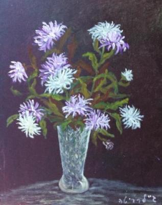 Rita Arkadievna Beckman. White chrysanthemums